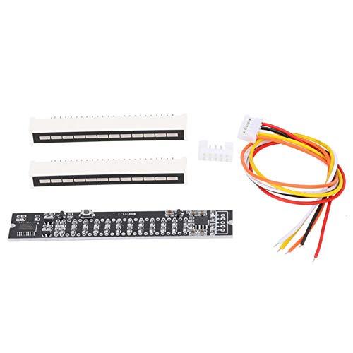 03 Kits electrónicos de Bricolaje Placa amplificadora de medidor VU, indicador de Espectro de Audio, Amplificador de Estabilidad de semiconductores DIY para(Music Spectrum Level Indicator)