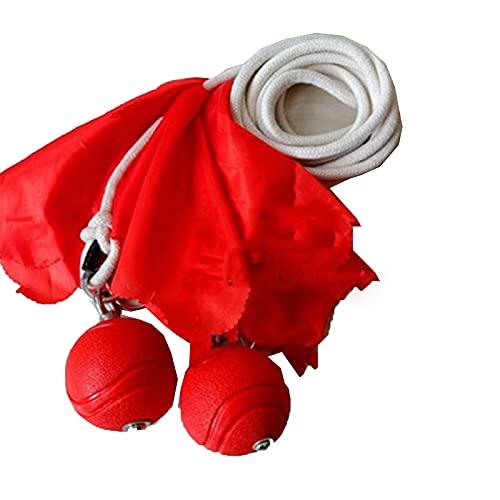 GFDRT Cuerda DARD Caucho Sólido Martillo de Meteor Martillo de Martillo Doble Bola Chino Kung FU Equipo Suave de Artes Marciales Tradicionales con 4m Cuerda de algodón