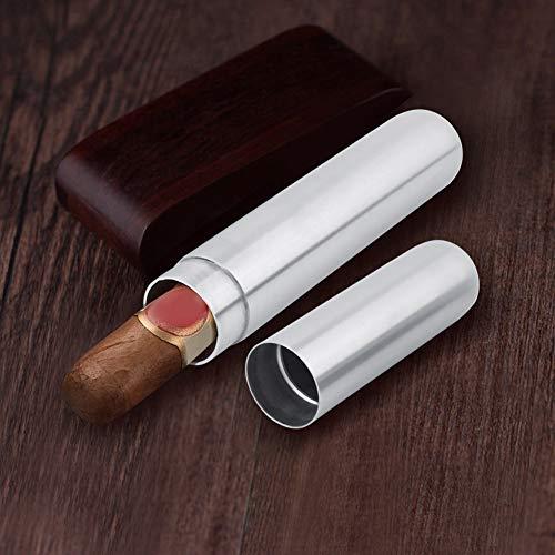 Recipiente para cigarrillos con un solo humidor de tubo de puros para viajes