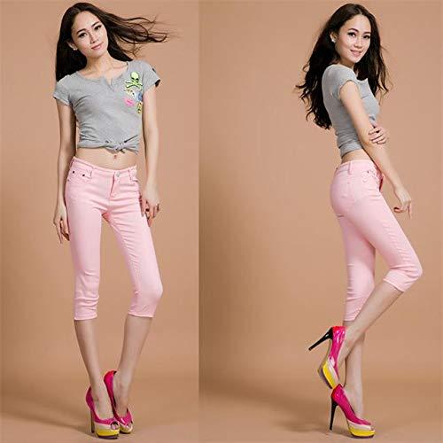 KXDNZK ZKKXDN Stretch Hoge Taille Skinny Broek Voor Vrouw Winter Plus Size Leggings Joggers Vrouwen Broek Pencil Sweat Broek Vrouwelijke Broek 29 Roze