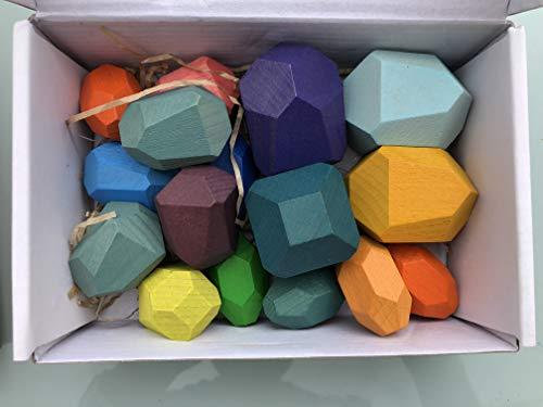 Tumi ISHI, Piedras de Equilibrio en Madera, Bloques de Construcción, Montessori, Desarrollo...