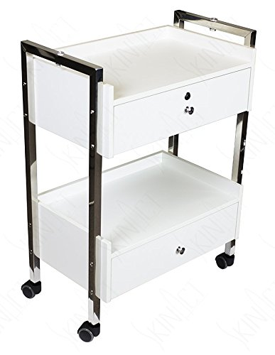 Supreme Medical Dental Mobile Utility Cabinet & Cart with Steel Frame and Two Drawer With One lockable Drawer