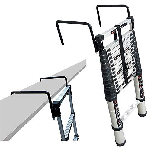 ALYR Aluminio Escalera Telescópica, Telescópica Escalera Portátil con estabilizador Multiusos Escaleras de Mano 150kg / 330lb Capacidad de Carga para Home Office Loft,4.1m/13.45ft