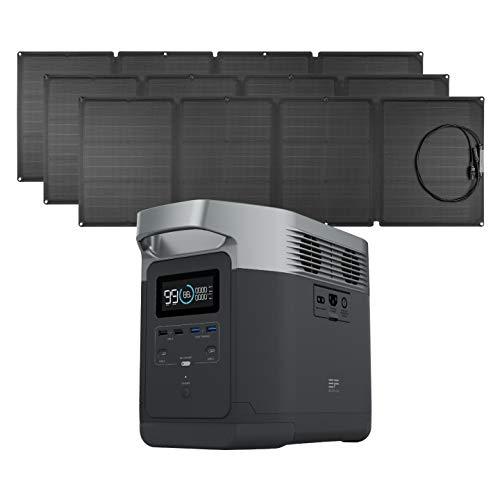 EF ECOFLOW EFDELTA 1260Wh Solar Generator with 3 110W Solar Panel , 6 1800W (3300W Surge) AC...