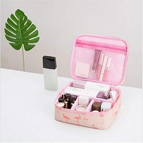 WEIHEEE Sac cosmétique à fleurs carrées avec poignée portable, pochette de maquillage multicolore de grande capacité pour les voyages,Couleur de l'image 1