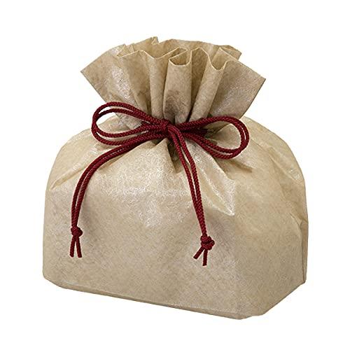 巾着袋 (和菓子・贈答用) 横140×縦205×ガゼット110mm(内寸 横140×縦130×ガゼット110mm) 50枚