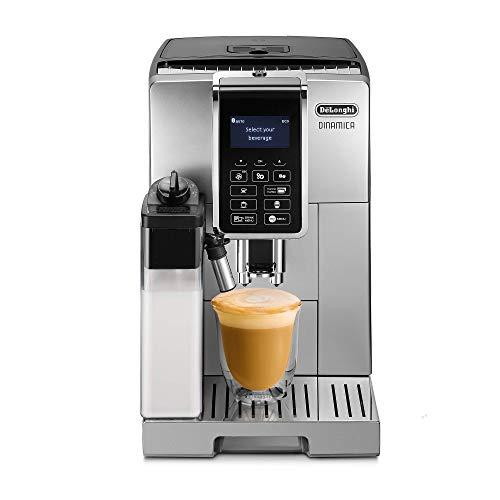 DeLonghi Dedica Style Dinamica Ecam Machine à expresso entièrement automatique en acier inoxydable – Machine à café (indépendante, grains de café, café moulu, moulin intégré, 1450 W, acier inoxydable)