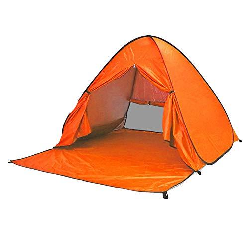 ZLOP Tienda de campaña de protección UV, tienda de playa, tienda de campaña para exteriores, portátil, protección UV, tienda de playa para familia, playa, jardín, camping (1 unidad, naranja)