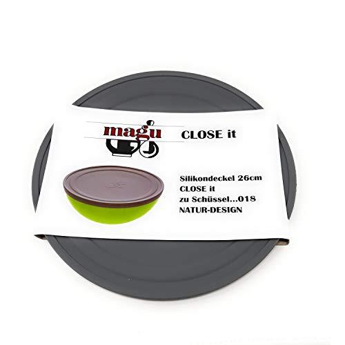 MAGU - 146028 - COUVERCLE EN SILICONE GRIS POUR SALADIER 20 CM