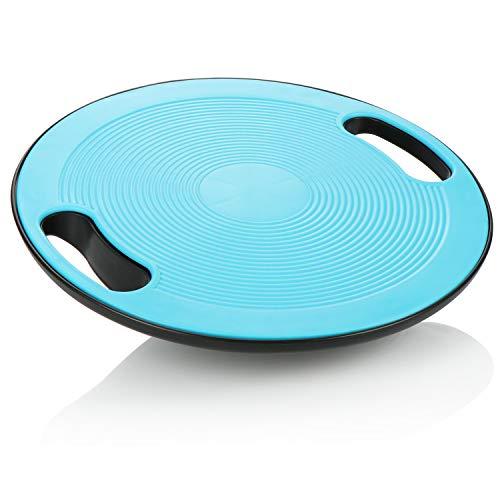 com-four® Balance Board - Tabla de balanceo para Entrenamiento físico y Fisioterapia, Tabla de Equilibrio para Equilibrio y Estabilidad, Entrenador de Espalda y Tobillo (Azul)
