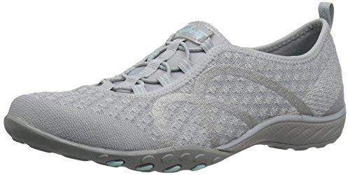 Skechers Damen Breathe Easy-Fortune-Knit-23028 Sneaker, Grau (Grey), 38 EU
