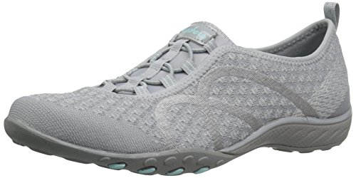 Skechers Damen Breathe Easy-Fortune-Knit-23028 Sneaker, Grau (Grey), 38 EU