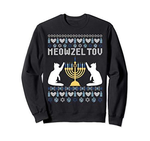 Meowzel Tov Funny Chanukah Sweatshirt