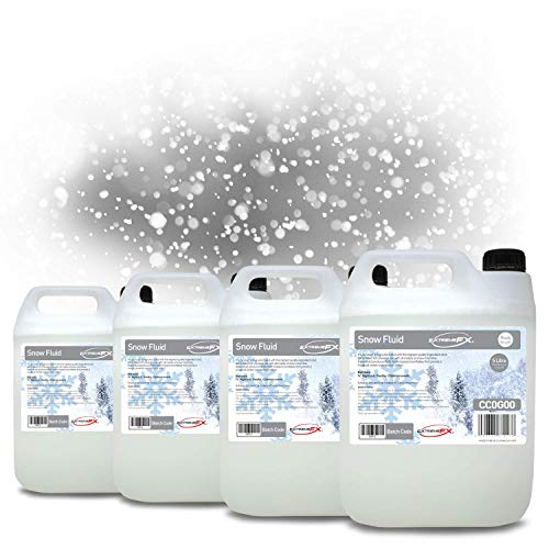 Snow Fluid - Snow Machine Fluid (4x5 Litres) 20 Litres of Professional Grade snow solution works with most snow machines.
