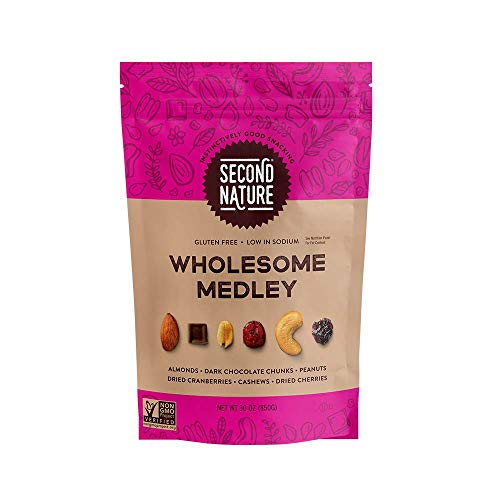 Second Nature Wholesome Medley Trail Mix - Healthy Nuts Snacks Blend - 30 oz Resealable Pouch
