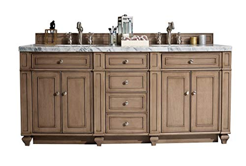 James Martin Furniture Bristol 72 in. Double Vanity (Top Not Included)