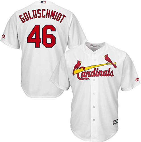 OuterStuff Paul Goldschmidt St. Louis Cardinals Youth 8-20 White Home Premier Stitched Cool Base Jersey (Youth Large 14-16)