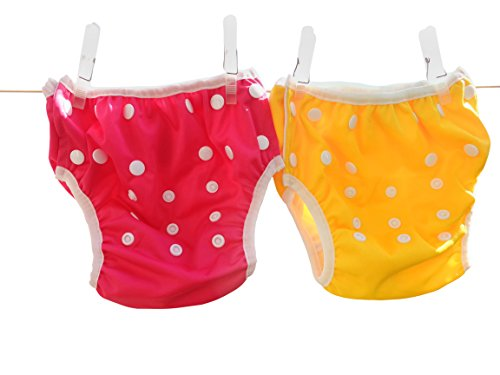 Three Little Imps Set de 2 couches de bain à motif - 0-1 an - violet, jaune ou rose