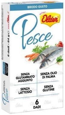 Frutos secos para caldo con sabor a pescado, sin lactosa, sin glutamato añadido, sin gluten y sin aceite de palma, (1 paquete x 64 gramos)