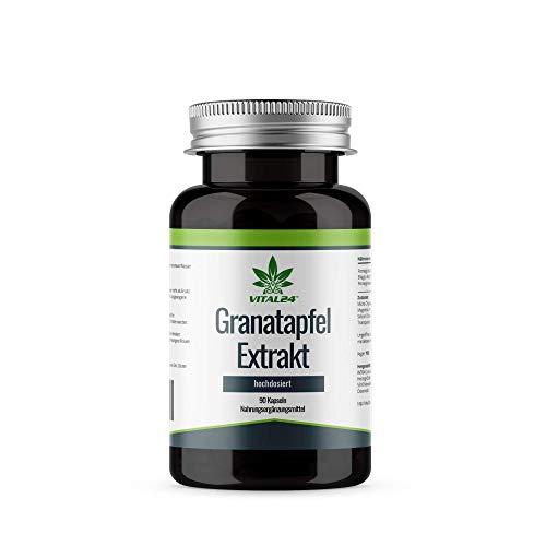 VITAL24 - Granatapfel Extrakt - 40{ee807d77e83ac70e9aebe3cf3f68e89e9fbed965cc92b3c34dc10192158e4e76} Ellagsäure - 4000 mg - Hochdosiert pro Kapsel - Hergestellt in der EU