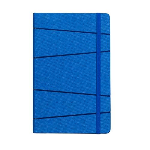 Labon's A5 Classic Notebook Italiaans PU Hardcover Persoonlijk dagboek Journal Verticale elastische band Koordsluiting (gelinieerd, donkerblauw)