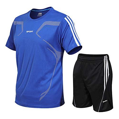 Traje Deportivo De Verano En Vivo Camiseta De Manga Corta para Hombres Y Mujeres Pantalones Cortos Camisa Suelta para Correr Al Aire Libre 4XL