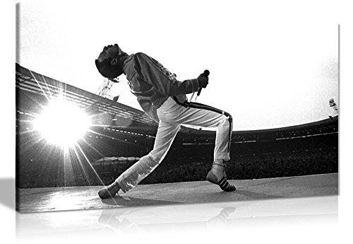 Leinwandbild, Motiv Freddie Mercury, 76 x 41 cm