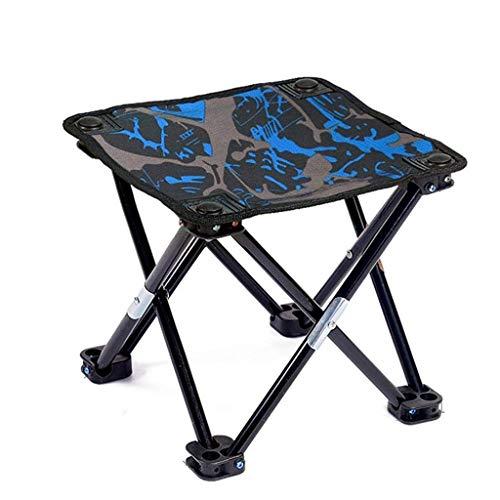 ch-AIR Mini Tabouret De Camping Portable Pliable Tabourets en Aluminium Camp Léger pour, Pêche, Pique-Nique, Voyage Et Randonnée (Color : Color Blue)