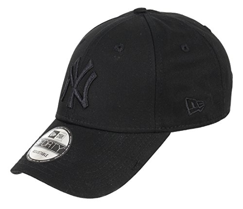New Era Kids Cap Adjustables - NY Yankees - Black-White, Size:Youth