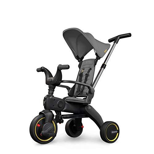 Doona Liki Trike S1 - das weltweit kompakteste Faltbare Dreirad - Hochwertig, multifunktional, Cooles Design - für Kinder von 10-36 Monate - Grey Hound / grau