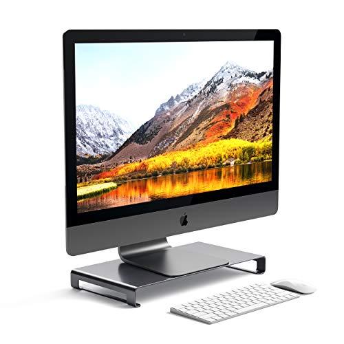 Satechi Soporte Universal de Aluminio para Monitor Compatible con 2017 MacBook Pro, iMac Pro, Google Chromebook, Microsoft Surface, DELL, ASUS y más (Gris espacial)