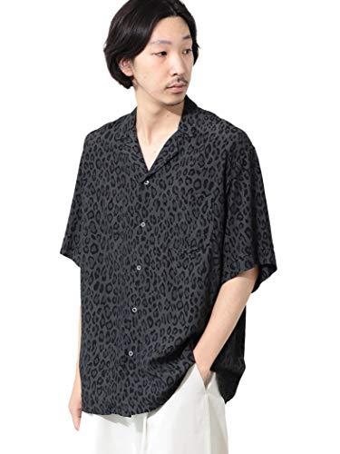 [ビームスライツ] TOWN CRAFT タウンクラフト 別注 半袖シャツ TOWN CRAFT 別注 レオパード オープンカラーシャツ メンズ CHARCOAL.G L