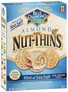 Blue Diamond Nut-Thins Almond Nut & Rice Cracker Snacks, Hint of Sea Salt 4.25 oz (120.5 g)