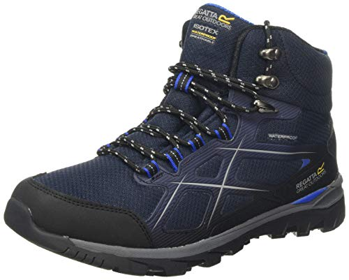 Regatta Kota II Mid Waterproof Hiking Boot, Botas de Senderismo para Hombre, Azul (Navy/Oxford Blue 942), 45 EU