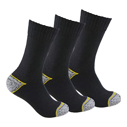 Calcetines de TRABAJO (3 pares) ideales para botas de trabajo o calzado de seguridad. Con goma ANTI-PRESION y talón y puntera reforzados. También son idóneos para deportes de invierno. (43-46)