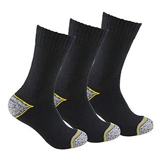 Calcetines de TRABAJO (3 pares) SIN COSTURAS para todo el año, con talón y puntera reforzados, ideal para el uso con calzado de seguridad y para deportes de invierno o situaciones de frío y humedad.