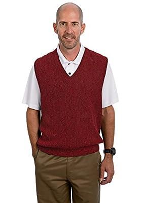 Alpaca Golf Men's V-Neck Links Vest Revolution Red XL from Alpaca Golf Sweaters