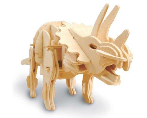 Triceratopo 3d da costruire in legno - con sensore di movimento Robotime