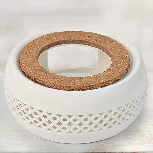 0000 Stövchen, Stövchen für Teekanne, Teekanne Stövchen mit Kork Kissen, perfekt für Glasteekannen und Keramik-Teekannen, geeignet zum Erhitzen von Tee und Kaffee