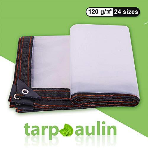 Lona Impermeable Universal con ojales Toldo y duradera resistente al agua y a los rayos UV muy gruesa para muebles,jard/ín ,coche ect(2piezas)gris 4x8 m