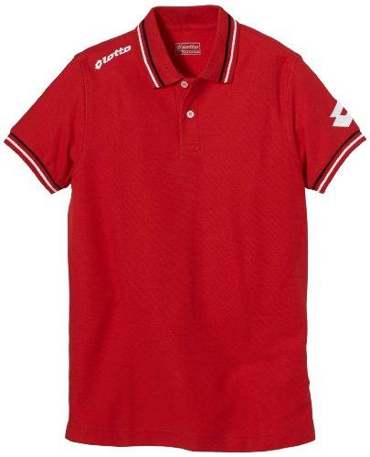 Lotto Sport Jungen Polo Shirt Omega Off PQ JR, flame, S, Q8564