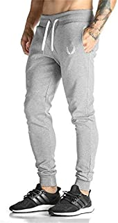 Mens Pants Sports Fitness Fashion Leisure Trousers for Men Light Grey