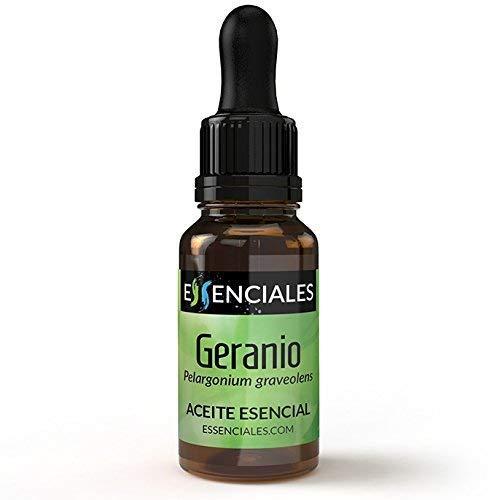 Essenciales – Olio Essenziale di Geranio, 100% Puro e Naturale, 10 ml | Olio Essenziale di Pelargonium Graveolens