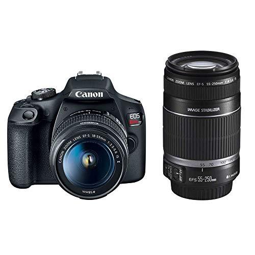Kit Canon EOS Rebel T7+ e Lentes 18-55mm e 55-250mm