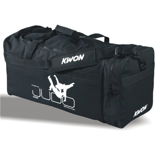 KWON® sporttas groot Large L JUDO, tas, trainingstas, tassen Bag, zwart, trainingstassen grote sporttassen met opschrift opschrift opschrift vechtsport Budo judotas judotas