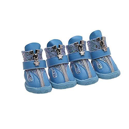 CUIZC Zapatos para perros resistentes al desgaste, antideslizantes, con color de contraste retro y estampado en caliente, disponible en varios tamaños
