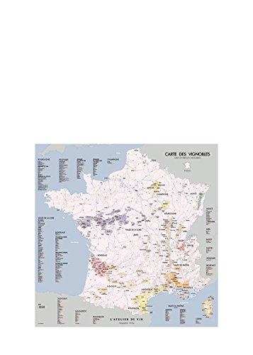 L'Atelier du Vin 056734-0 Mapa de viñedos de Francia, Paper