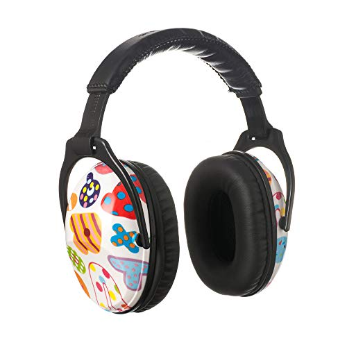 PROTEAR NRR 25 dB Kids Ear Protection,Hearing Protection Earmuffs for Children,Adjustable Noise Reduction ear defenders for Concerts, Fireworks, Air Shows (Letter)