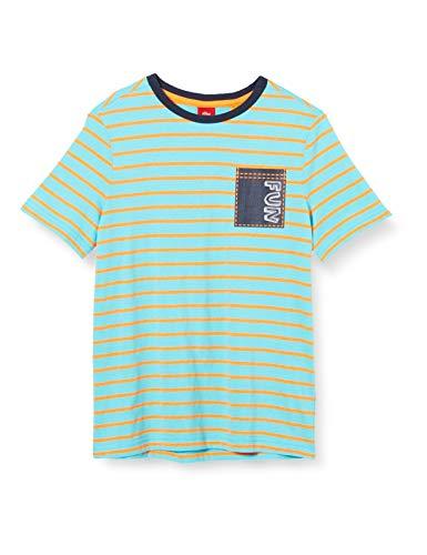 s.Oliver Jungen 404.10.004.12.130.2019328 T-Shirt, MehrfarBig (62G9 palm tree), 128/134 REG