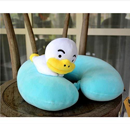 Boufery Almohada de Felpa en Forma de U del Personaje de Friends, Juguetes de muñecas de Felpa para el sofá del automóvil (Verde)
